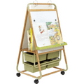 Bamboo Teaching Easel,2 Sided Easel,2 Sided Easel,art easel,Furniture Storage,Classroom Storage,Classroom Easel